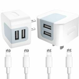 chargers 2 4a dual port usb wall