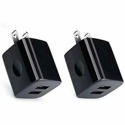 Charging Block,USB Wall Charger, 2-Pack 2.1A Dual Port Unive