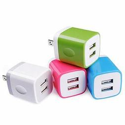 Charging Block,Wall Adapter,Sicodo 4-Pack 2.1A