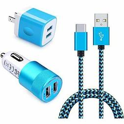 Charging Cables Block, Ououdee 3in1 Dual Port USB Wall Charg