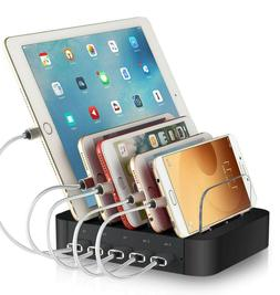 Rexiao Charging Station for Multiple Devices-5 Port Cell Pho