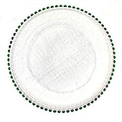 #1 Christmas Festive Red and Green Combo 13-Inch Beaded Rim