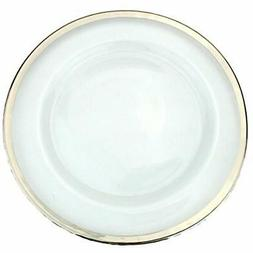 Clear Charger & Service Plates Glass 13 Inch Dinner With Met