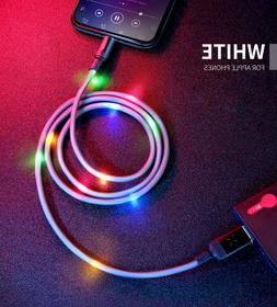 MCDODO Colorful LED Light Lightning Charger USB Cable iPhone