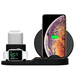 SingDeRing Compatible 3 in 1 Wireless Charger Stand QI Wirel