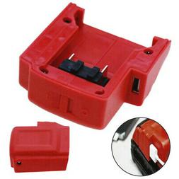 Converter USB Charger Adapter Red Cordless For Milwaukee 49-