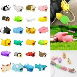 Cute Animal Biting USB Charger Cable Protector For IOS Andro