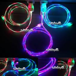Double Color Glow in the Dark Charging Cable LED Charger for