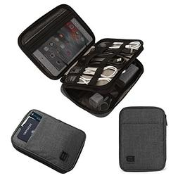 BAGSMART Double-Layer Travel Cable Organizer Electronics Acc