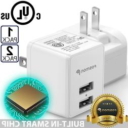 Fosmon Fast Quick USB Wall Charger Foldable Plug for iPhone