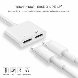 Dual Lighting Adapter iPhone 7 8 X Splitter 2 in 1 Charger a