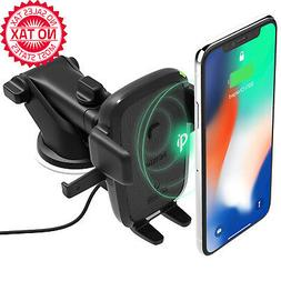 iOttie Easy One Touch Qi Wireless Fast Charge Car Mount for
