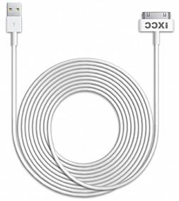 iXCC 10ft EXTRA LONG 30 Pin to USB SYNC and Charge Cable Cor