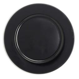 Fantastic Premium Thick Black plastic Round Shape Dinner Cha
