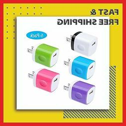 Fast Charging Block Phone USB Wall Charger Lot Cube iPhone i