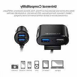 Fast USB Car Charger 5.5A 4 Ports Multiple Expander Car Char