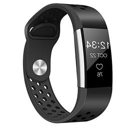 Tecson Fitbit Charge 2 Bands, Stainless Steel Metal Milanese
