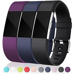 Maledan Bands Replacement Compatible with Fitbit Charge 2, 3