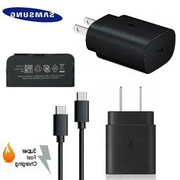 Original Samsung Fast Charger 25W USB-C Plug Type C S20 Plus