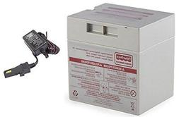 1 X Gray 12V Power Wheels Battery + 12 Volt Gray Charger w/