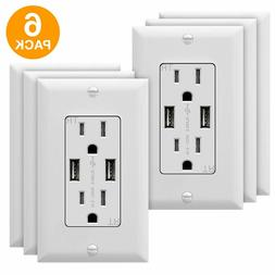 TOPGREENER High Speed 3.1A USB Outlet 15A Charger Receptacle