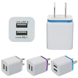 Home Travel Dual Ports AC USB Wall Chargers For iPhone Samsu