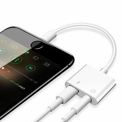 For iPhone 11 X Xs MAX XR 7 8 Plus 3.5mm Aux Audio Charge Ad
