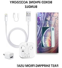Generic iPhone 6/7/8/+/X Lightning Earpods, Cable, Wall Char