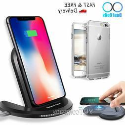 For iPhone 8 / 8 Plus Crystal Clear Case + Wireless Charger