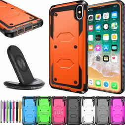 For iPhone 8 Plus XR Xs max Shockproof Case Cover with Qi Wi