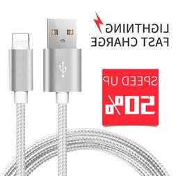 iPhone Charger Cable Usb 6FT Heavy Duty 6 7 8 Plus X For App