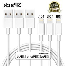 iPhone Charger Xcords Lightning Cable 3Pack 10FT 8Pin Chargi