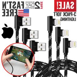 iPhone Charger Lightning USB Cable Cord Heavy Duty Braided E