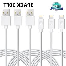 iPhone Charger, Sundix Lightning Cable 3Pack 10ft Charger an