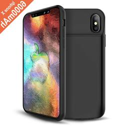 """for iPhone X -Black Slim Portable Charger Case 5.8"""""""