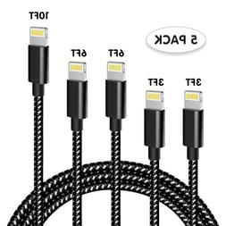 For iPhone X/XR/iPad USB Fast Charger Cable Data Syncing Cor