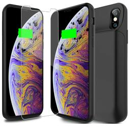 iPhone X XS Max Battery Case 6000mAh Rechargeable Charger Po