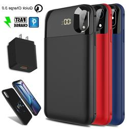 For iPhone XR/XS Max/X Qi Wireless Battery Case Power Bank +