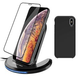 For iPhone 11 Pro Max XS XR X 8 Plus Qi Wireless Fast Chargi