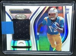Joshua Kelley Rookie 2020 Certified Jersey Swatch CHARGERS