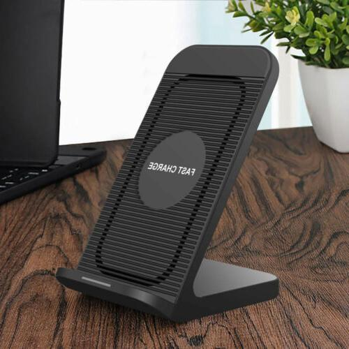 US 10W Qi Wireless Charger Fast Charging Stand Cooling Fan F