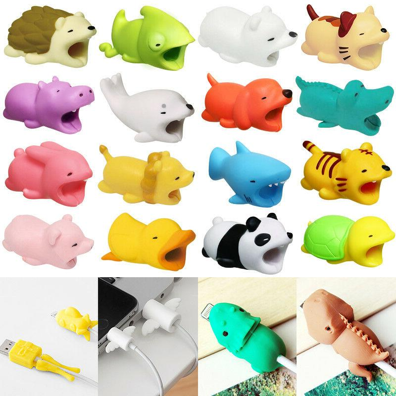1pc cute animal cable saver protector usb