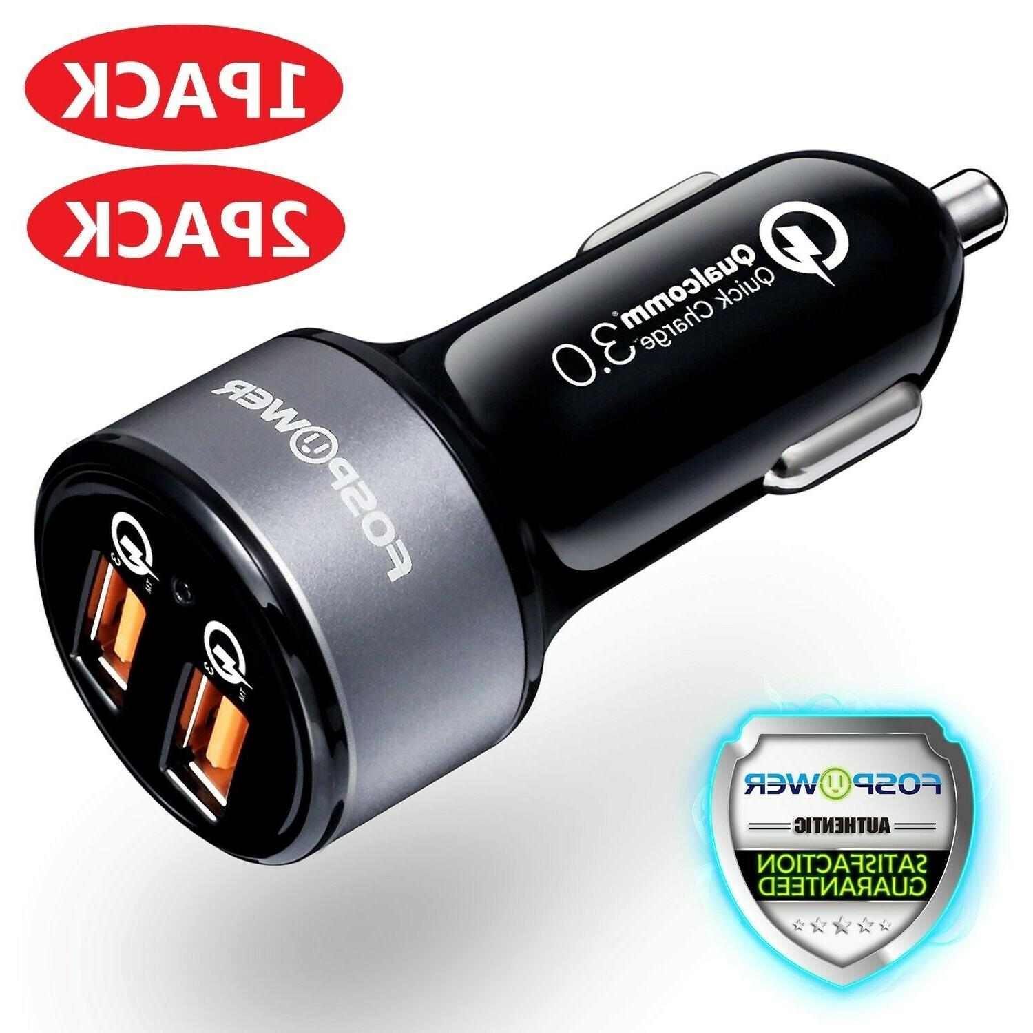 2 dual port usb fast car charger