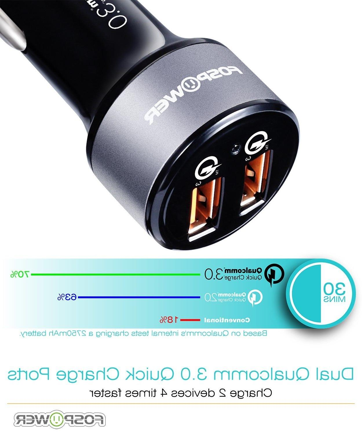 2 Dual Port Fast Charger Qualcomm Quick 3.0 iPhone