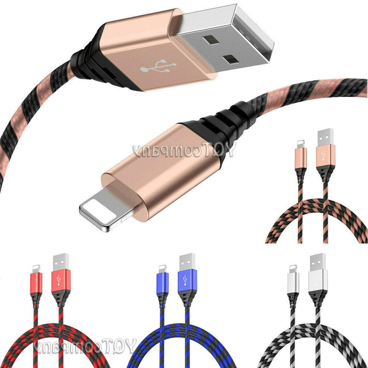 2 Pack Long Cable Charger Charging for iPhone 8 7 6S Plus 11