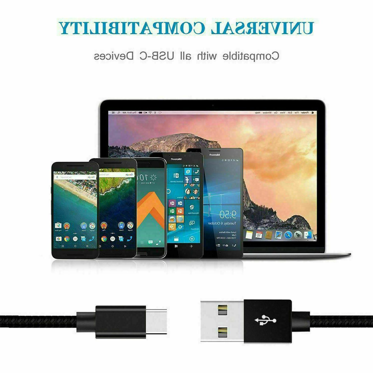 3/6/10Ft Fast C Cable OEM S9 S8 Note8