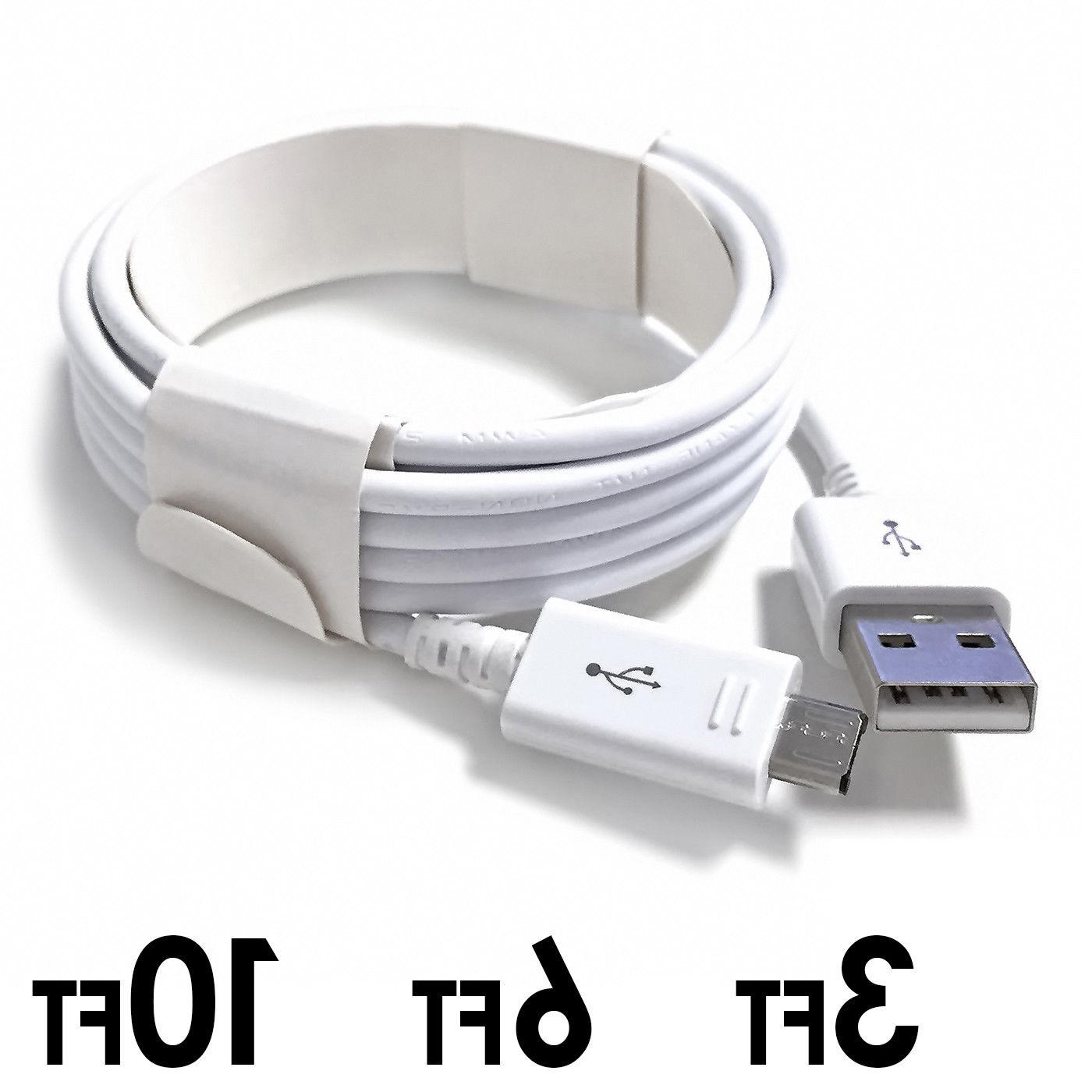 3/6/10ft Sync Charging Cord for Android LG