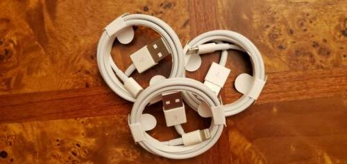 3x OEM Lightning USB Charger Cable For 7 Plus X 11