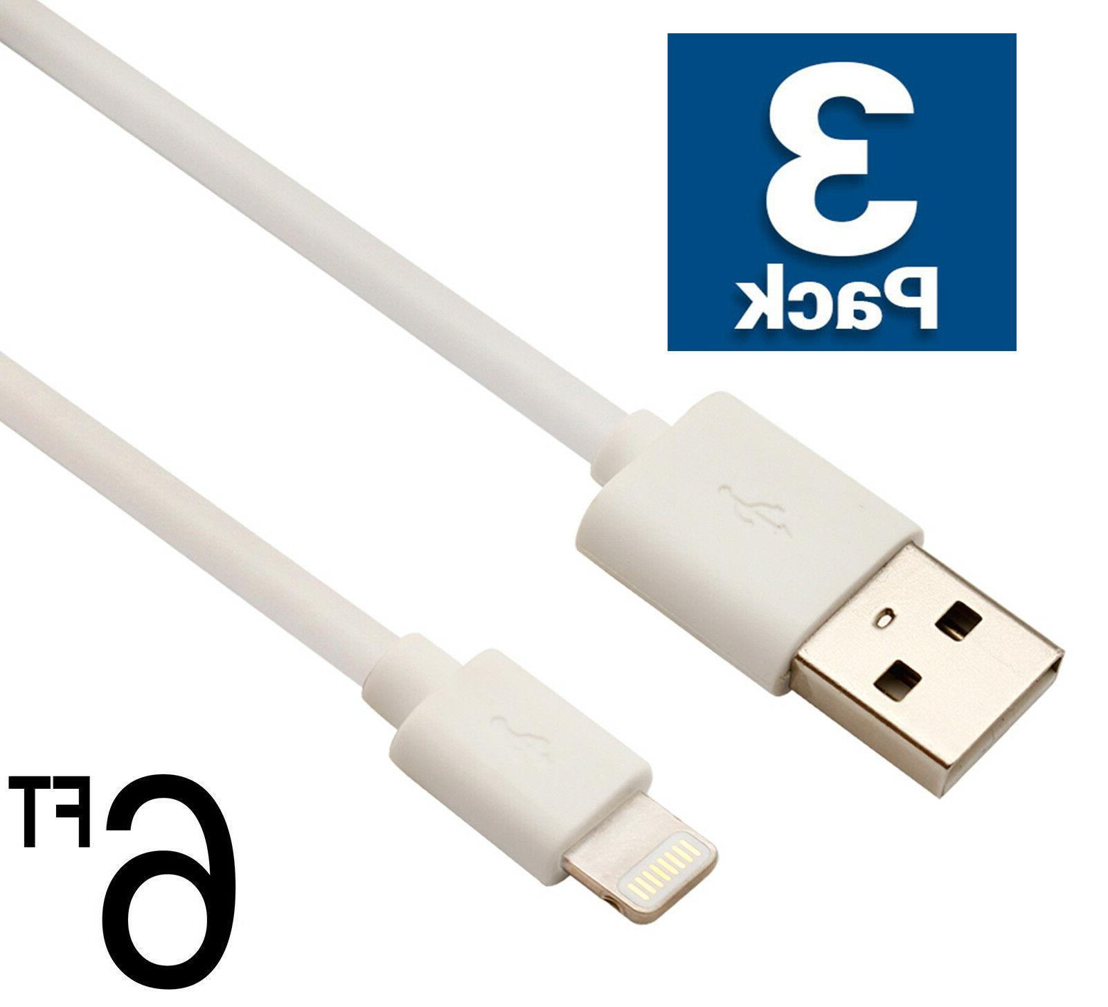3x usb cable charger 6ft 2m compatible