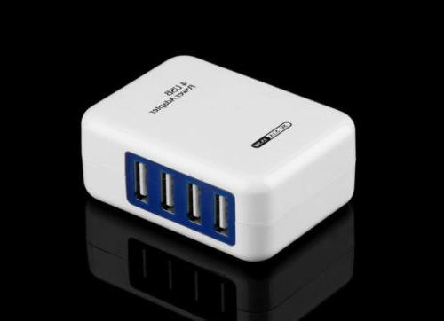 4 usb ports ac wall home charger